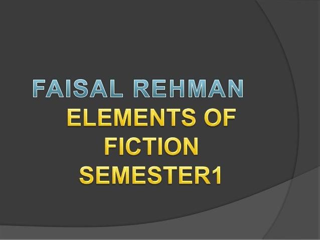 Elements of fiction frkniazi