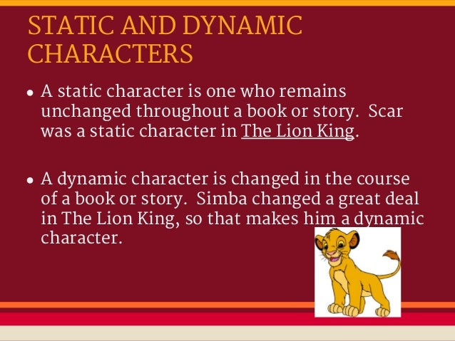 examples of dynamic and static characters