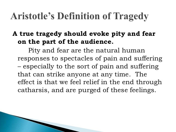 tragedy and aristotle essay