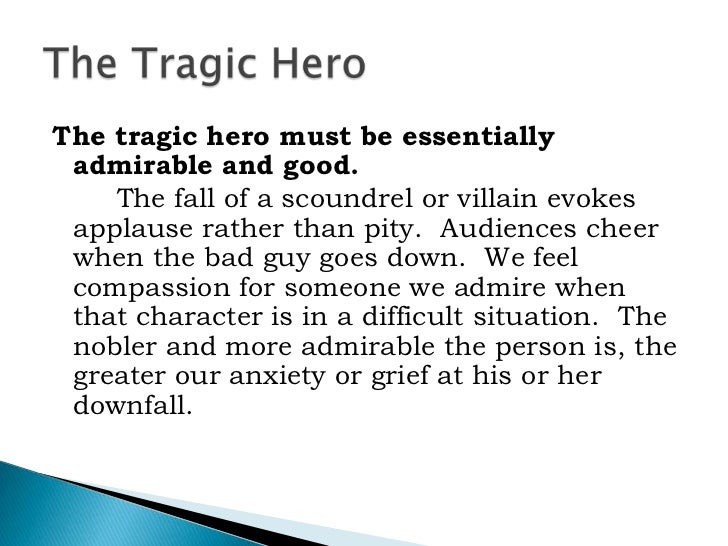 tragic heros A concise definition of tragic hero along with usage tips, an expanded explanation, and lots of examples.