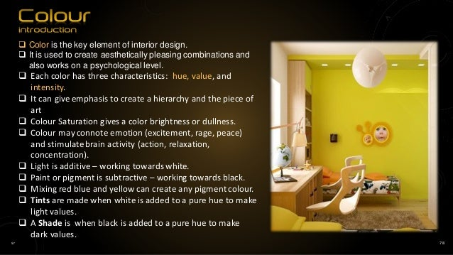 ... 78. Sr 78  Color Is The Key Element Of Interior Design.