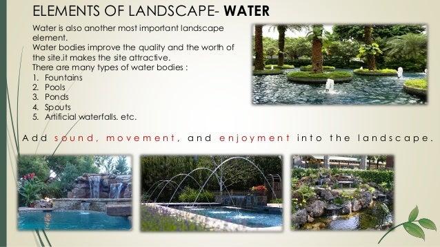 Elements of landscape design for Different landscape design