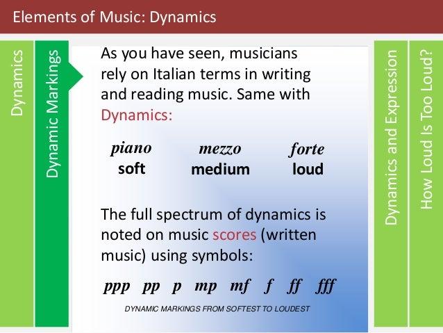 Elements Of Music Dynamics