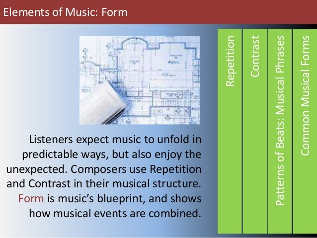 Elements of music form elements of music form common musical forms patterns of beats musical phrases contrast repetition malvernweather Image collections