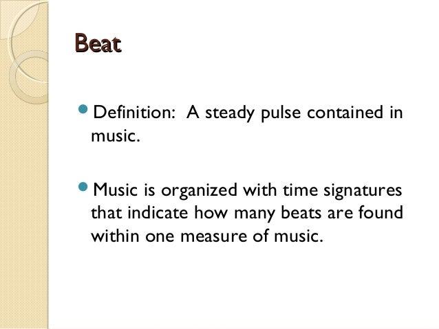 The defination of music