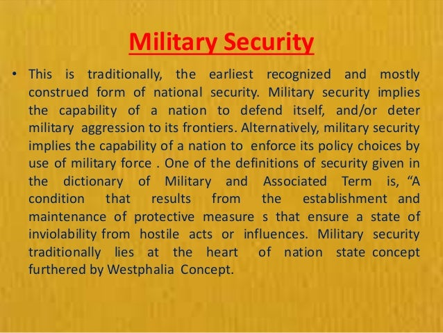 elements of national security pdf