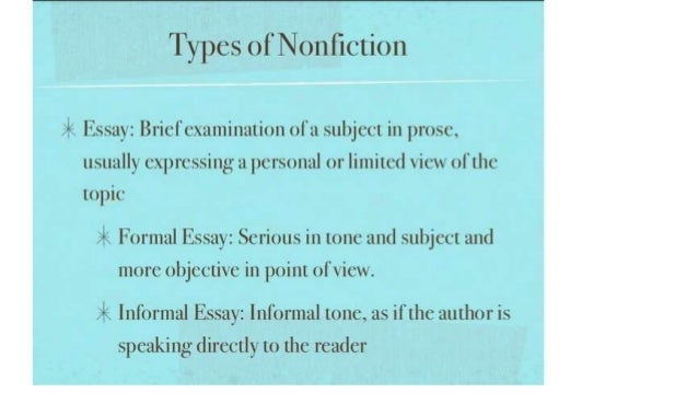 Elements of the reflective essay genre