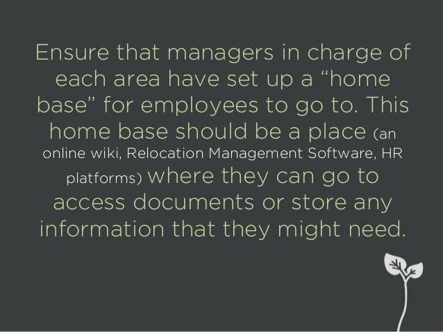 You can also create pre- made documents or guides that HR departments can re-use that answer questions ahead of time.
