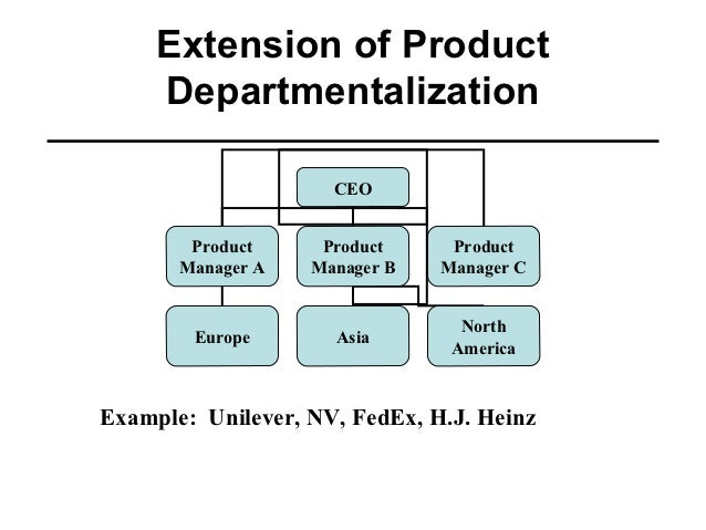 Departmentalization of an organizational structure of ford motor company an electric cars
