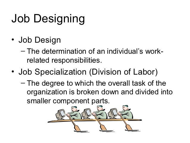 dividing tasks into smaller jobs is called