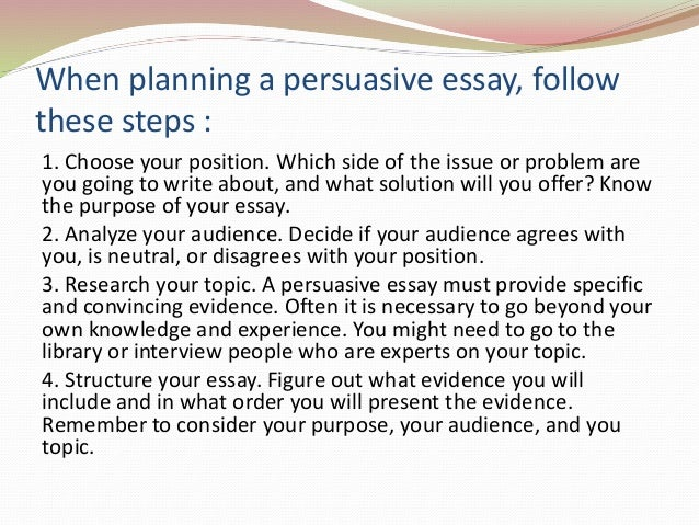 elements of persuasive speech