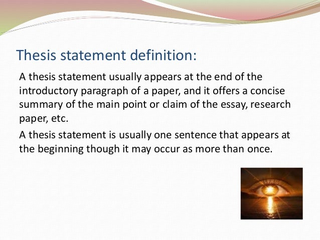 elements of a thesis paper The purpose of this guide is to provide advice on how to develop and organize a research paper in the social sciences using non-textual elements.