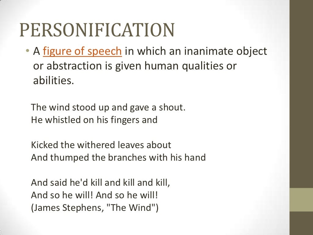sample of personification sample close reading virtually class  personification a figure of speech