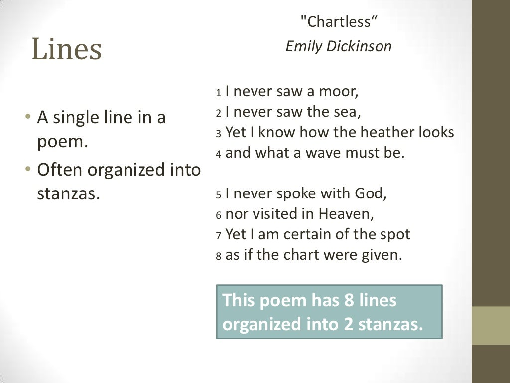 Chartless Ldquo Lines Emily Dickinson 1 I