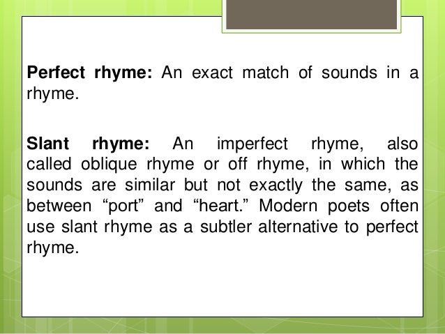 The sounds of poetry: rhyme. Before we begin  you should first.