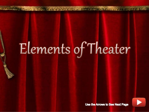 """- According to the book """"Theater, The Lively Art"""""""