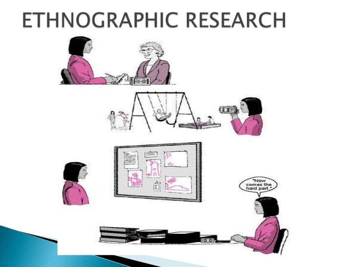 ethnographic study field research in a What research methods do ethnographic researchers adopt  findings of  ethnographic studies6 participant observation requires immersion in the setting   as a departure from the traditional lone researcher working 'in the field', is in  part in.
