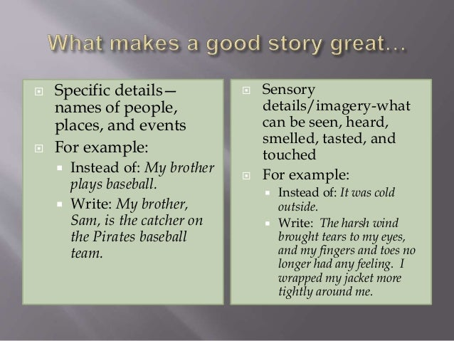 example of a short story with elements