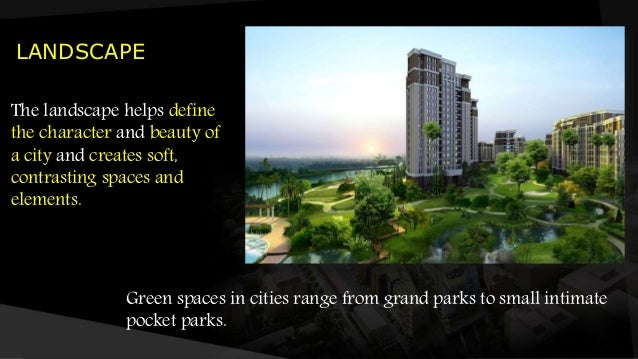 Define Elements Of Design : Elements of urban design