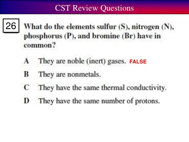 Cst review elements and periodic table cst review questions false true 26 urtaz Image collections