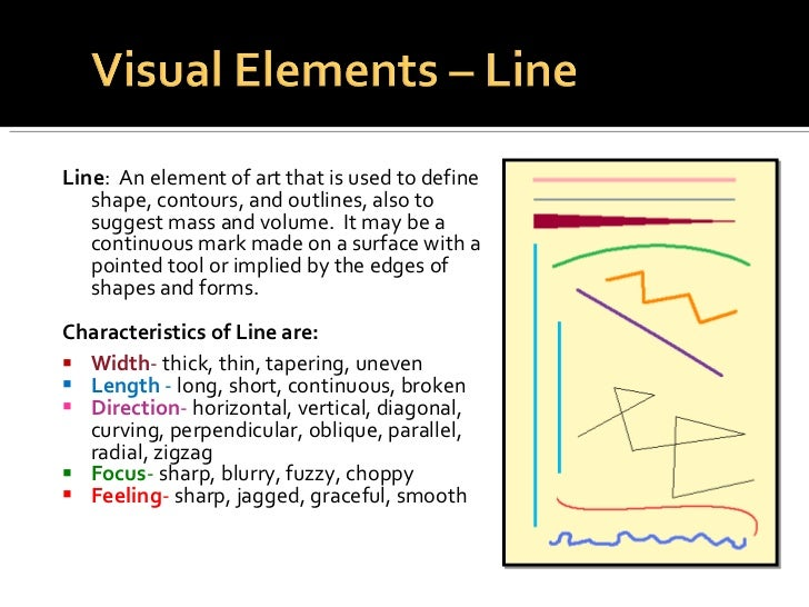 Line Definition In Art : Elements principles of design