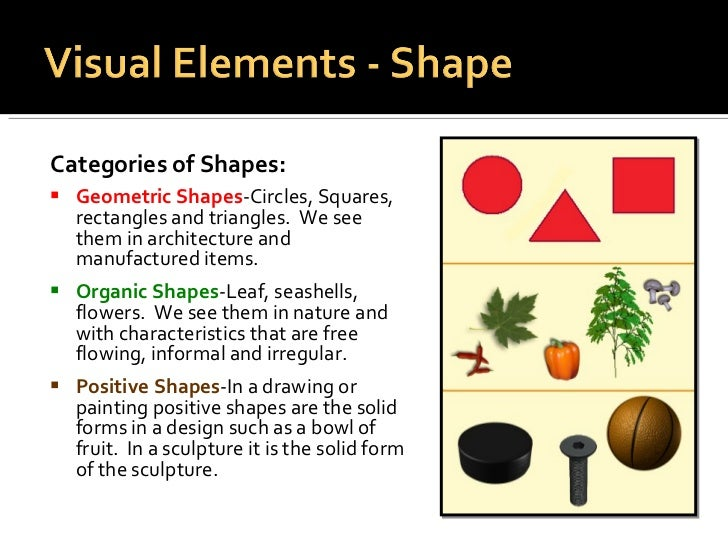 Elements Of Design Shape And Form : Elements principles of design