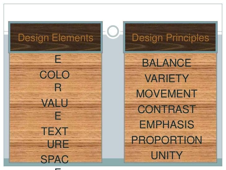 LINEDesign Elements   Design Principles    SHAP       E            BALANCE    COLO            VARIETY       R             ...