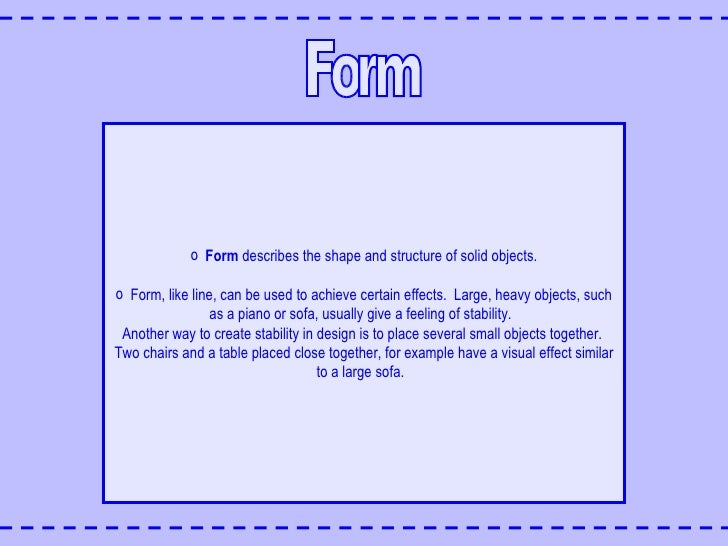 Interior Design Form Definition