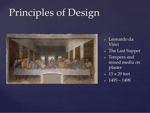 last supper elements and principles of design (look for elements and traits that repeatedly appear)  compare this image to leonardo's last supper  2d design | color theory | .