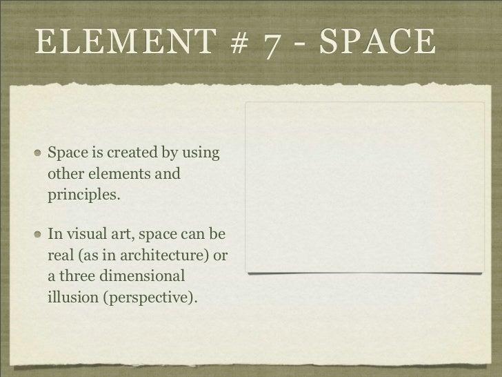 7 Elements Of Visual Arts : Elements and principles