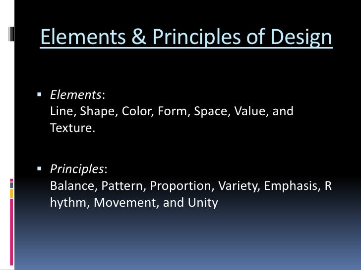 8 Elements Of Art : Elements principles of art