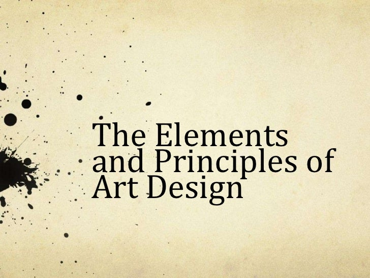 The Elementsand Principles ofArt Design