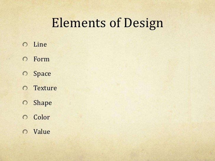 Three Elements Of Design : Elements principles of art design powerpoint