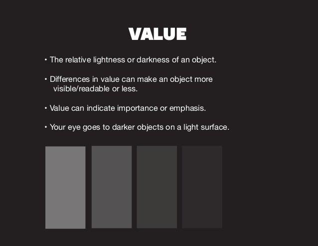 Elements And Principles Of Design Value : Elements principles of design