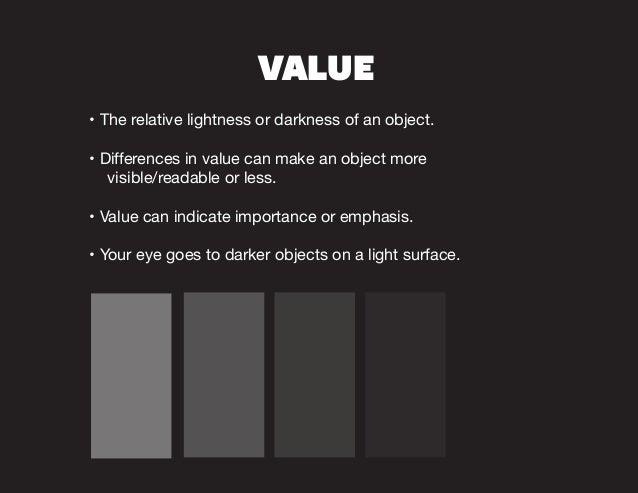 Elements Of Design Value : Elements principles of design
