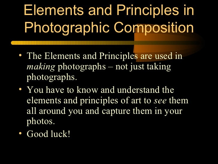 9 Principles Of Art : Elements and principles of design in photography