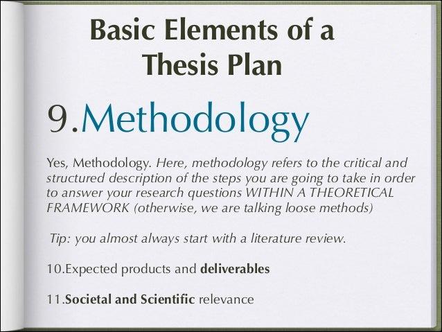 Dissertation proposal elements