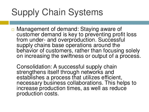 Elements That Make a Supply Chain System Successful Slide 3