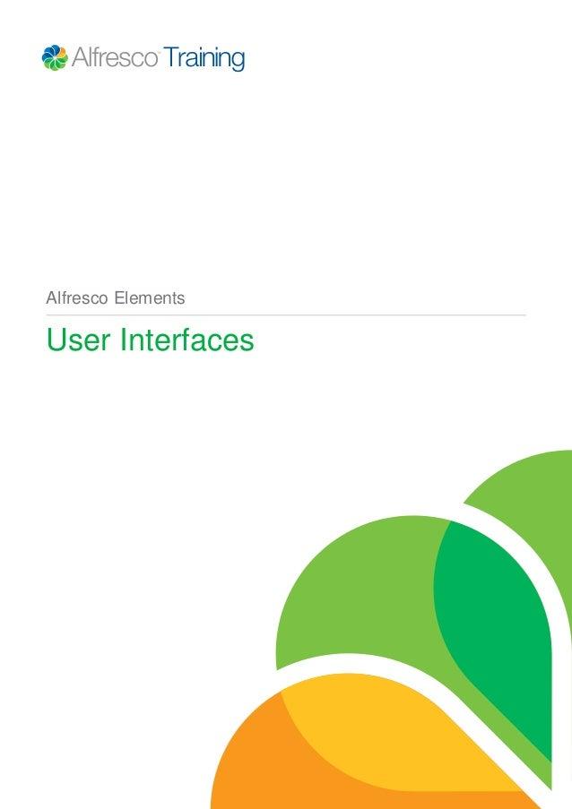 Alfresco Elements User Interfaces