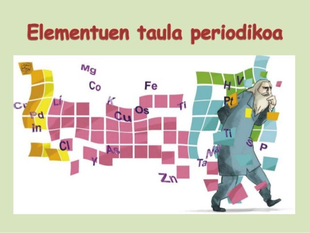 Taula periodikoaren asmatzailea:Dmitri MendeleievTaula periodikoaren lehenbertsioaren asmatzaileaizan zen.Taul periodikoa ...