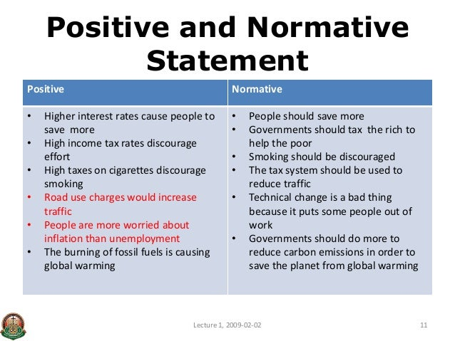 Normative Economics
