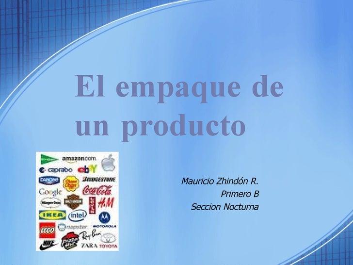 El Empaque De Un Producto