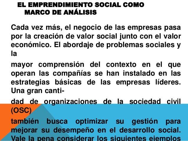 El emprendimiento social como marco de analisis jaqueine Slide 2