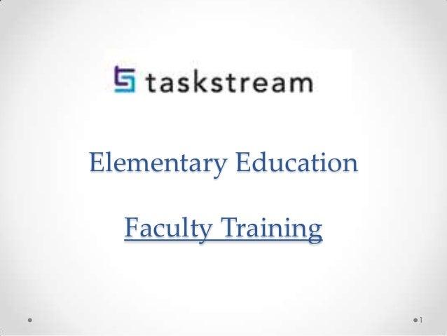 Elementary Education Faculty Training 1