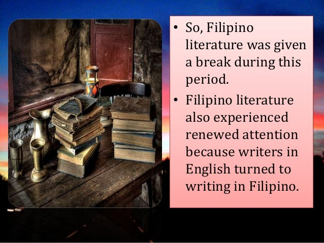 filipino drama during japanese period Japanese settlement in the philippines refers to the branch  the edo period and settled during the colonial period from the  japanese-filipino children for .