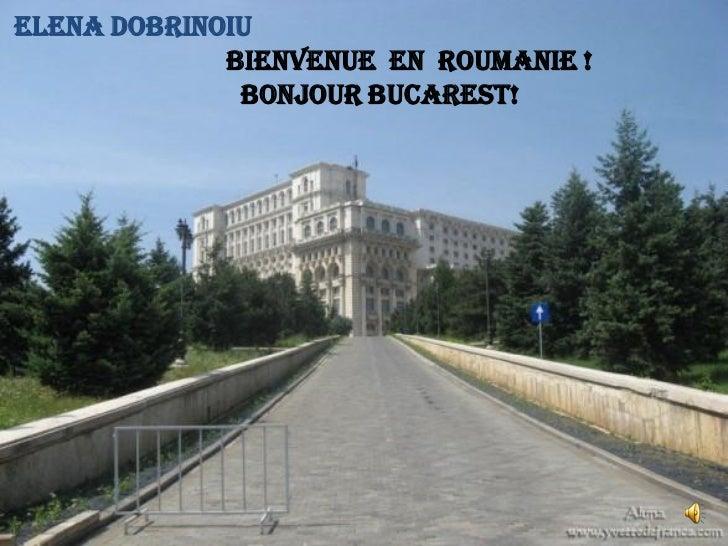 ELENA DOBRINOIU             BIENVENUE EN ROUMANIE !              BONJOUR BUCAREST!