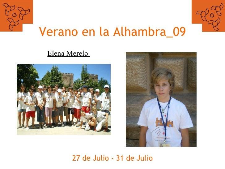 Verano en la Alhambra_09 27 de Julio - 31 de Julio Elena Merelo