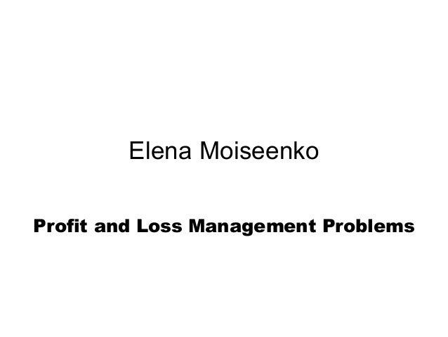 profit and loss management pdf