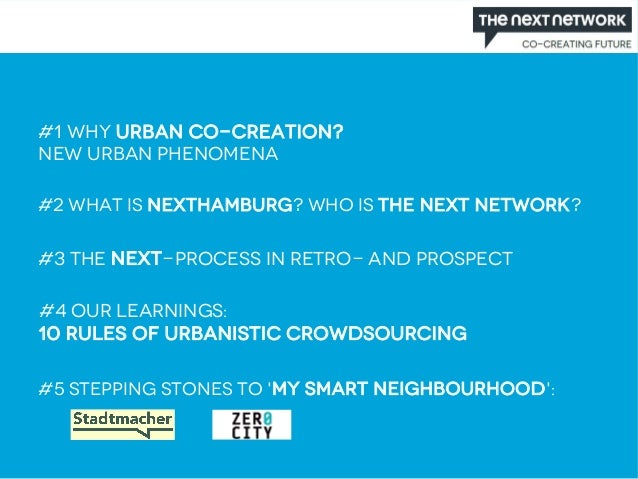 The Next Network: Co-Creating The City Slide 2