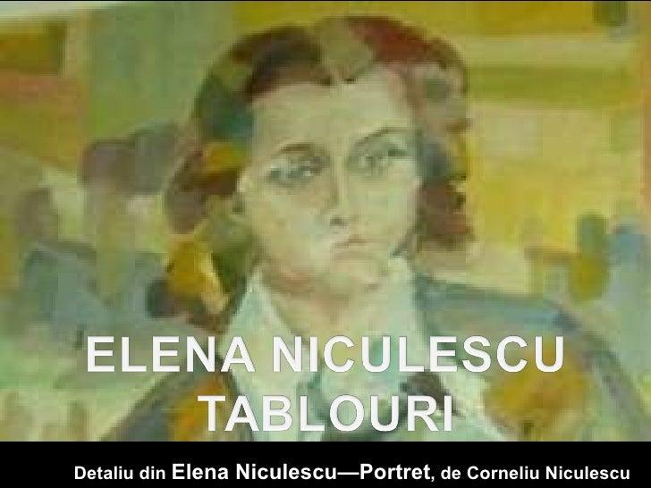 Detaliu din  Elena Niculescu—Portret , de Corneliu Niculescu